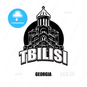 Tbilisi, Geogia, black and white logo - HEBSTREITS