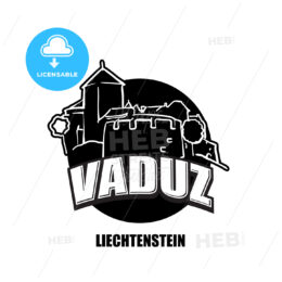 Vaduz, Liechtenstein, black and white logo