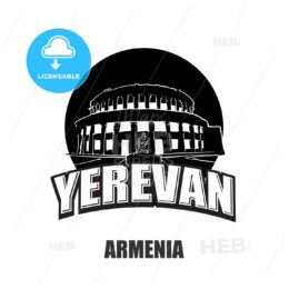 Yerevan, Armenia, black and white logo
