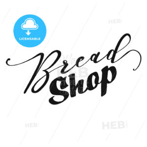 Bread Shop lettering - HEBSTREITS