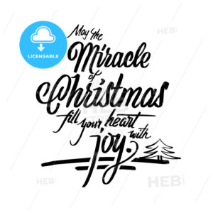 Christmas words lettering greeting card - HEBSTREITS