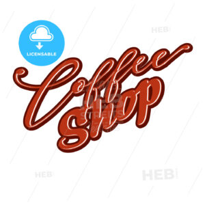 Coffee Shop lettering - HEBSTREITS