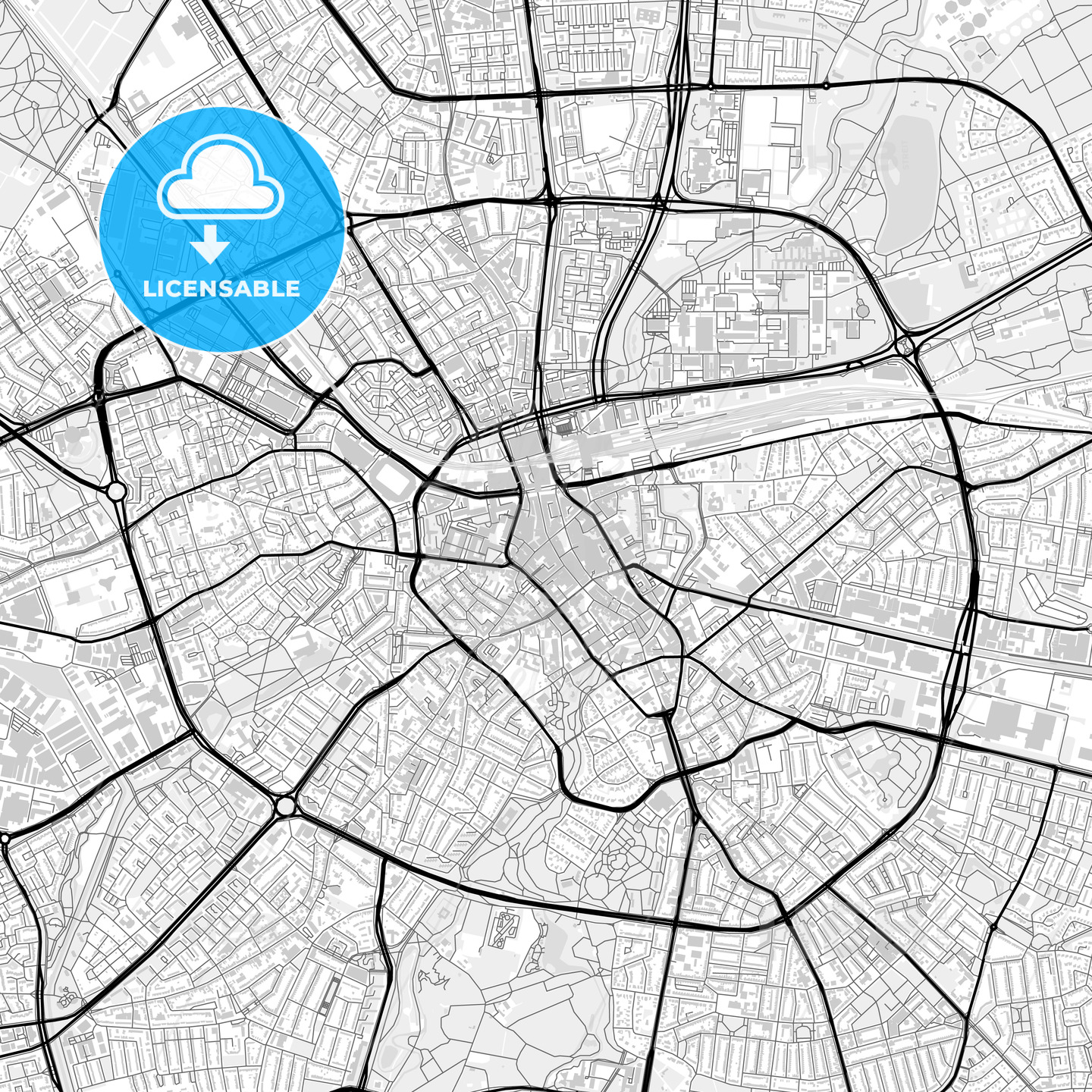 Downtown map of Eindhoven, Netherlands