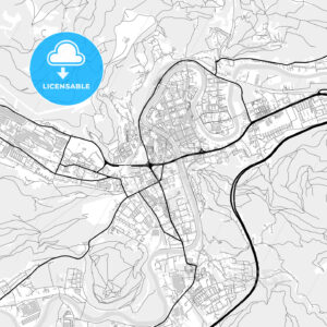 Downtown map of Leoben, Austria - HEBSTREITS