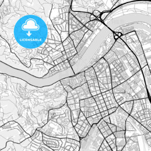 Downtown map of Linz, Austria - HEBSTREITS