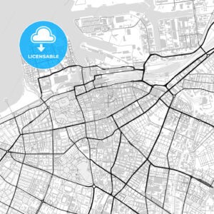 Downtown map of Malmö, Sweden - HEBSTREITS