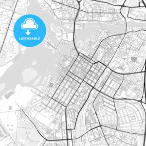 Downtown map of Oulu, Finland - HEBSTREITS