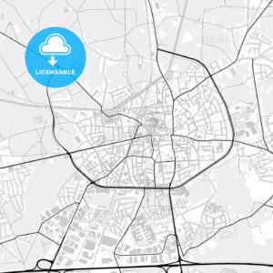 Downtown map of Turnhout, Belgium - HEBSTREITS