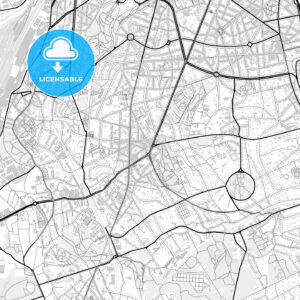 Downtown map of Uccle, Belgium - HEBSTREITS