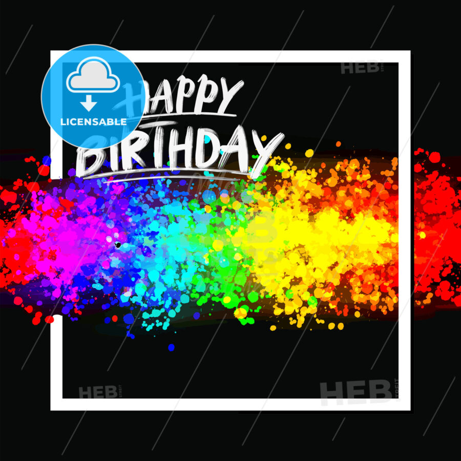 Happy birthday colorful background - HEBSTREITS