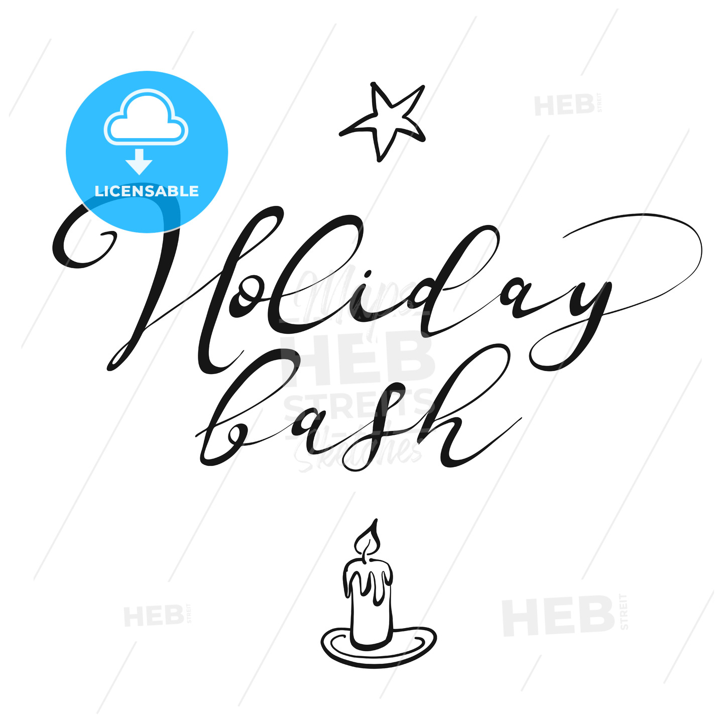Holiday bash lettering