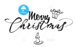 Merry Christmas lettering - HEBSTREITS