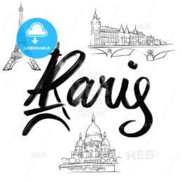 Paris lettering with signs