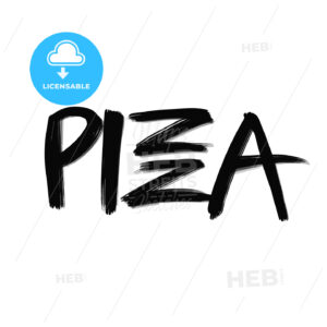 Pizza lettering - HEBSTREITS