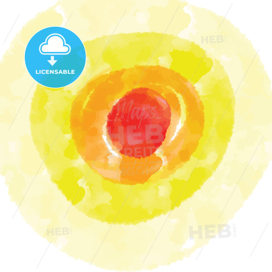 Red and Yellow watercolor background - HEBSTREITS