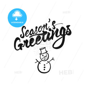 Seasons Greetings lettering - HEBSTREITS