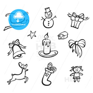 christmas icons drawings - HEBSTREITS