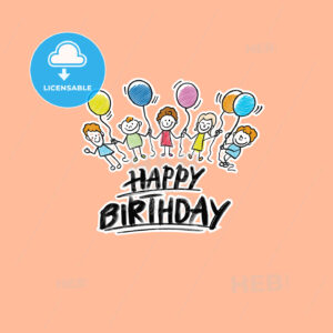 happy birthday kids logo - HEBSTREITS