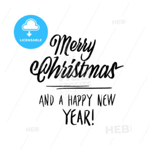 merry christmas new year lettering - HEBSTREITS