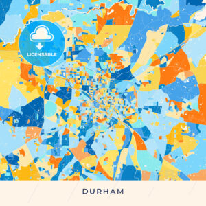 Durham colorful map poster template - HEBSTREITS