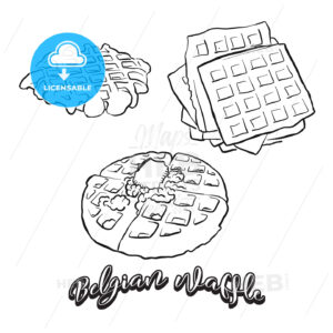 Hand drawn sketch of Belgian waffle bread - HEBSTREITS