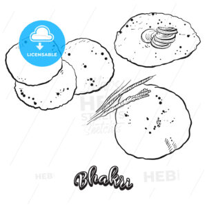 Hand drawn sketch of Bhakri bread - HEBSTREITS