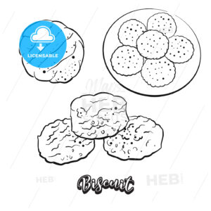 Hand drawn sketch of Biscuit bread - HEBSTREITS
