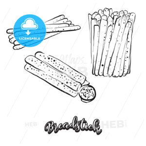 Hand drawn sketch of Breadstick bread - HEBSTREITS