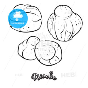 Hand drawn sketch of Brioche bread - HEBSTREITS