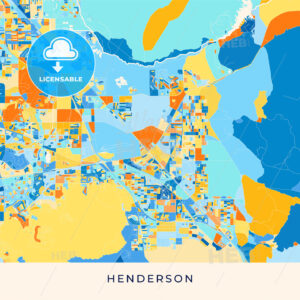 Henderson colorful map poster template - HEBSTREITS