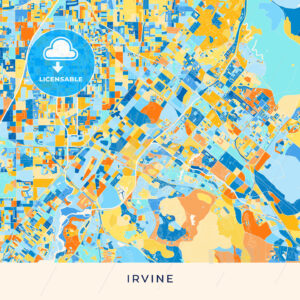 Irvine colorful map poster template - HEBSTREITS