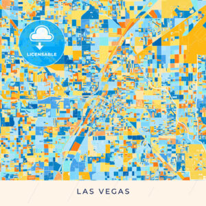 Las Vegas colorful map poster template - HEBSTREITS