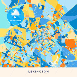 Lexington colorful map poster template - HEBSTREITS