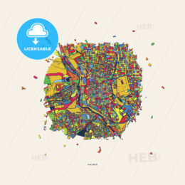 Madrid Spain colorful confetti map