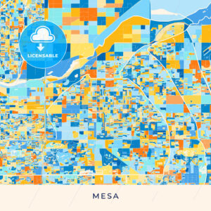 Mesa colorful map poster template - HEBSTREITS