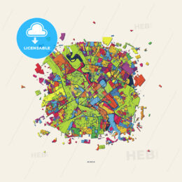 Minsk Belarus colorful confetti map