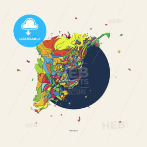 Monaco Monaco colorful confetti map - HEBSTREITS