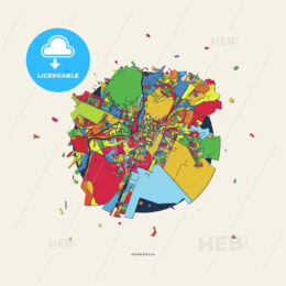 Podgorica Montenegro colorful confetti map