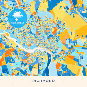 Richmond colorful map poster template - HEBSTREITS
