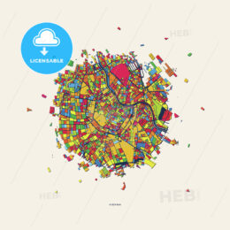 Vienna Austria colorful confetti map