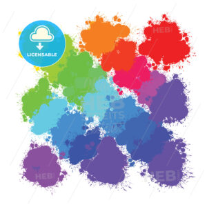 colorful splashes backgrounds pattern - HEBSTREITS