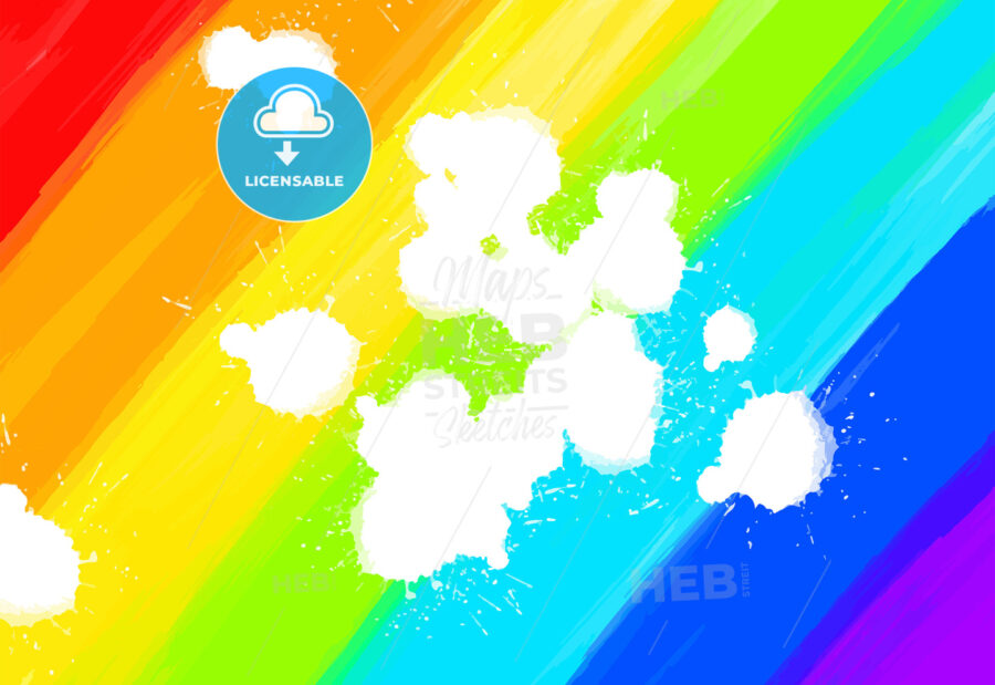 hand-drawn colorful rainbow - HEBSTREITS