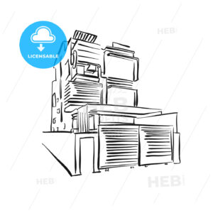 modern townhouse drawing - HEBSTREITS