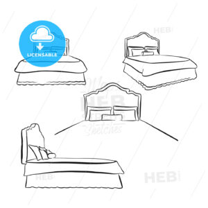 old kind size bed drawing - HEBSTREITS