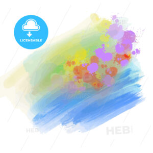 watercolor background with bright splashes - HEBSTREITS