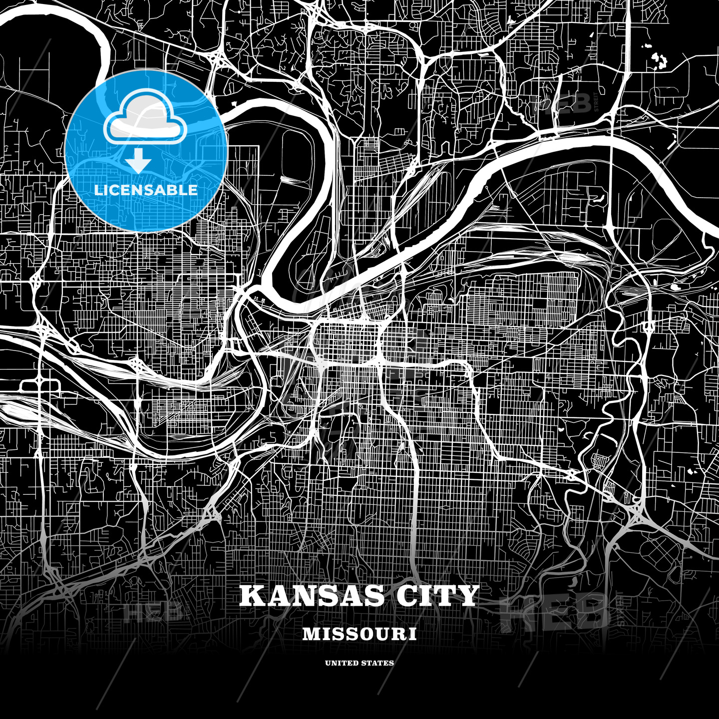 Black map poster template of Kansas City, Missouri, USA on recycling posters, planning posters, city design posters, city mural posters, radio posters, golf posters, vintage city posters, muenchen city posters, train posters, koln city posters, statistics posters, library posters, water posters, clothing posters, vision posters, city neighborhood posters, city travel posters, culture posters, home posters,