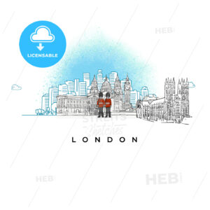City skyline of London, UK - HEBSTREITS