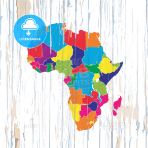 Colorful map of African Coutries - HEBSTREITS