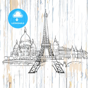 Paris drawing on wood - HEBSTREITS