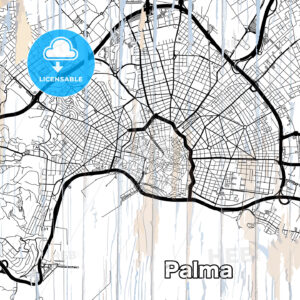 Street map of Palma - HEBSTREITS